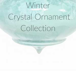 Winter Crystal Ornament Collection